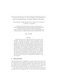 Towards Ontologies for Formalizing Modularization and ...