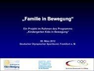 """""""Familie in Bewegung"""" - Familie und Sport"""
