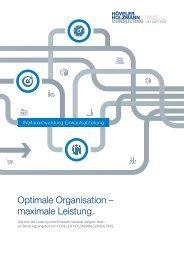 Optimale Organisation – maximale Leistung.