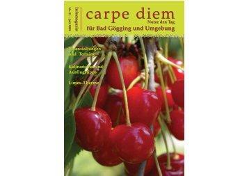 für Bad Gögging und Umgebung - carpe diem magazine