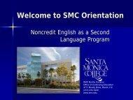 Welcome to Orientation - Santa Monica College