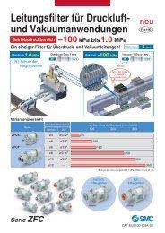 Leitungsfilter für Druckluft- und Vakuumanwendungen Serie ... - SMC