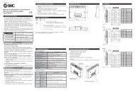 Manuale di installazione e manutenzione Blocco di ... - SMC