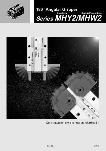 Angular Gripper Series MHY2/ MHW2 - SMC