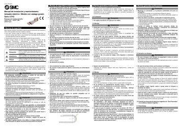 Manual de instalación y mantenimiento Actuador eléctrico ... - SMC