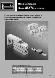 Mesa Compacta Serie MXH - SMC