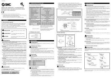 Manual de instalación y mantenimiento Serie de cilindros