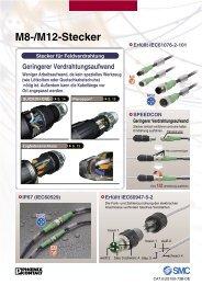 Sonstiges Zubehör für M8-/M12-Stecker - SMC
