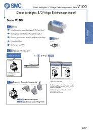 Direkt betätigtes 3/2-Wege Elektromagnetventil - SMC