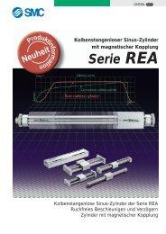 Kolbenstangenlose Sinus-Zylinder Serie REA - SMC