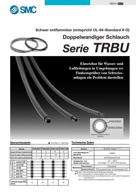 Serie TRBU Schwer entflammbar (entspricht UL-94-Standard ... - SMC