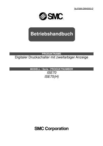 Betriebshandbuch - SMC