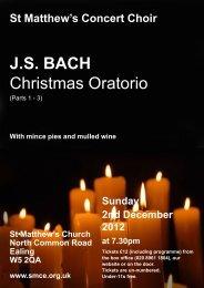 J.S. BACH Christmas Oratorio - St Matthew's Choir