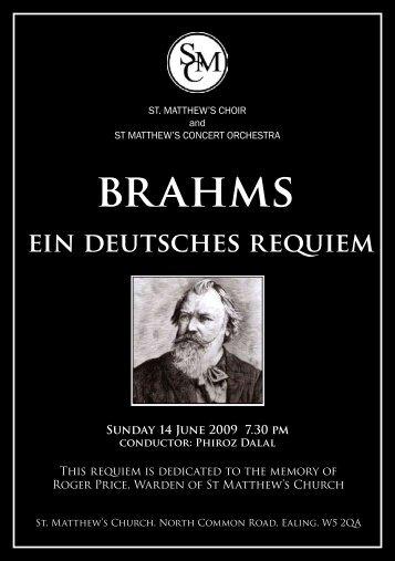 brahms - St Matthew's Choir