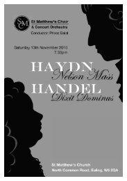 Haydn Nelson Mass & Handel Dixit Dominus - Programme