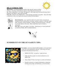 HEAT STRESS TIPS