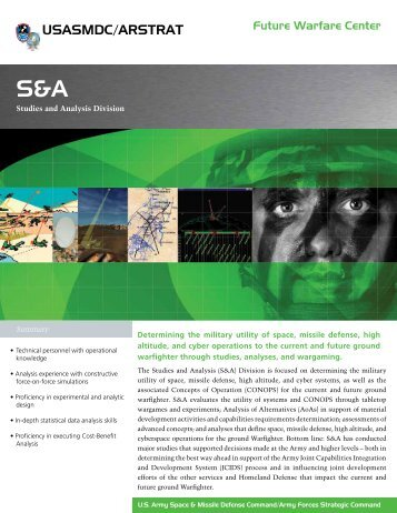 S&A - Space and Missile Defense Command - U.S. Army