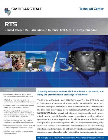 Rts - Space and Missile Defense Command - U.S. Army