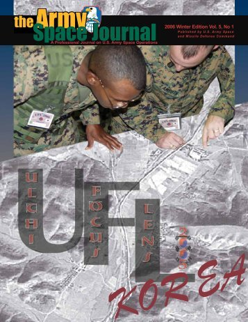 Volume 5, Number 1 - Space and Missile Defense Command - U.S. ...