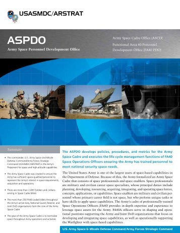 USASMDC/ARSTRAT - Space and Missile Defense Command ...