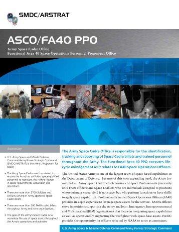 ASCO/FA40 PPO - Space and Missile Defense Command - U.S. Army