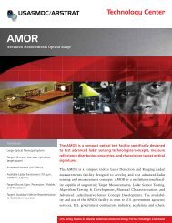 Advanced Measurements Optical Range (AMOR) - Space and ...