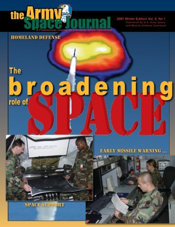 Volume 6, Number 1 - Space and Missile Defense Command - U.S. ...