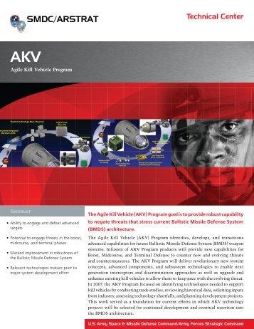 Agile Kill Vehicle Program - Space and Missile Defense Command ...
