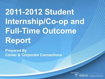 2011-2012 Annual Report - Smeal College of Business
