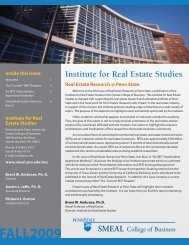 Issue 1, Fall 2009 - Smeal College of Business