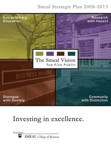 Investing in excellence. - Smeal College of Business
