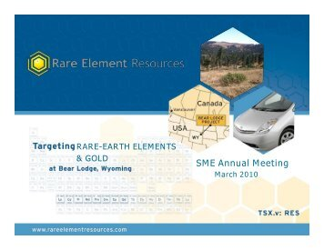 Rare Element Resources Targeting Rare Earth Elements ... - SME