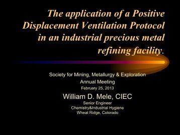 Displacement Ventilation - SME