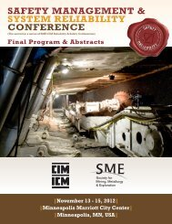 safety management & system reliability conference - SME