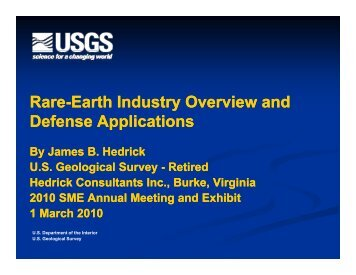 Rare-Earth Industry Overview and Defense Applications by ... - SME
