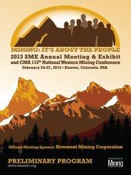 Annual Meeting Preliminary Program - Full Brochure (PDF) - SME