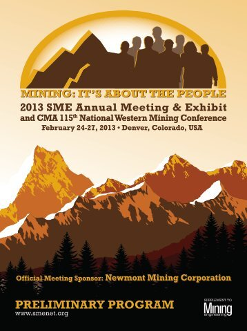 Annual Meeting Preliminary Program - Full Brochure (PDF) - SME