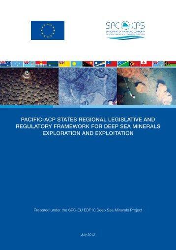 PACiFiC-ACP StAtES REgiOnAl lEgiSlAtivE AnD ... - SOPAC