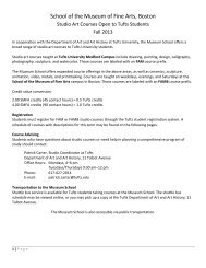 Studio Art Courses at Tufts - School of the Museum of Fine Arts