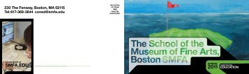 230 the Fenway, Boston, Ma 02115 tel - School of the Museum of ...