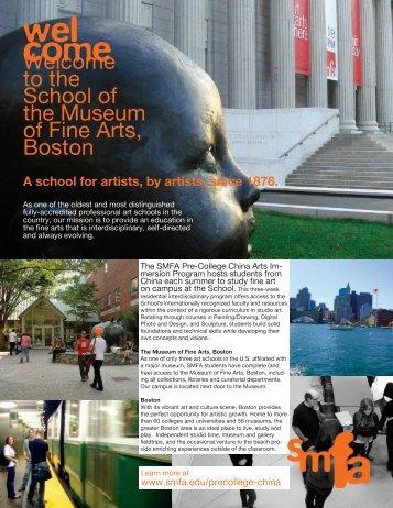 wel come - School of the Museum of Fine Arts