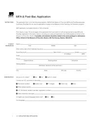 MFA & Post-Bac Application - School of the Museum of Fine Arts