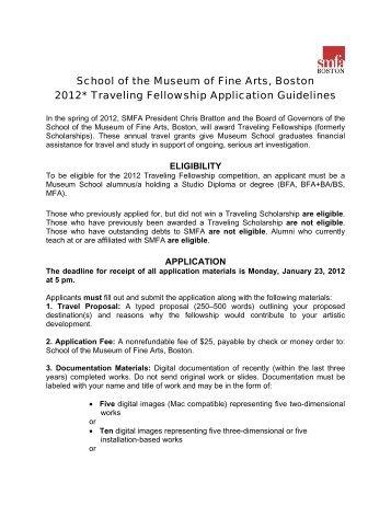 School of the Museum of Fine Arts, Boston 2012* Traveling ...