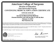 American College of Surgeons - Society for Maternal-Fetal Medicine