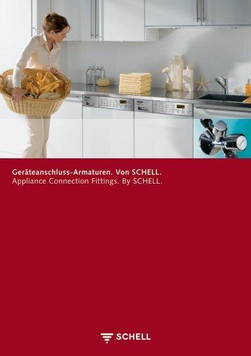 Geräteanschluss-Armaturen. Von SCHELL ... - Schell GmbH & Co. KG