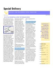 Special Delivery - Society for Maternal-Fetal Medicine