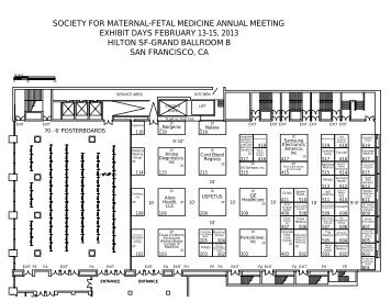2013 SMFM Exhibit Floor Plan - Society for Maternal-Fetal Medicine