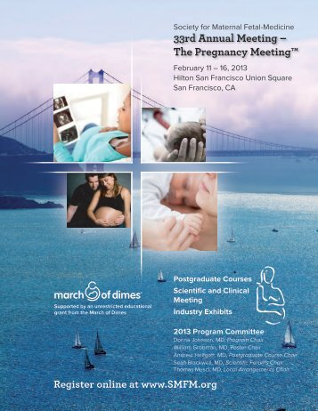 33rd Annual Meeting - Society for Maternal-Fetal Medicine