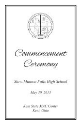 Commencement Ceremony - Stow Munroe Falls City School District