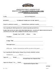 Vacation/Personal Leave Form - Administrators/Classified Staff